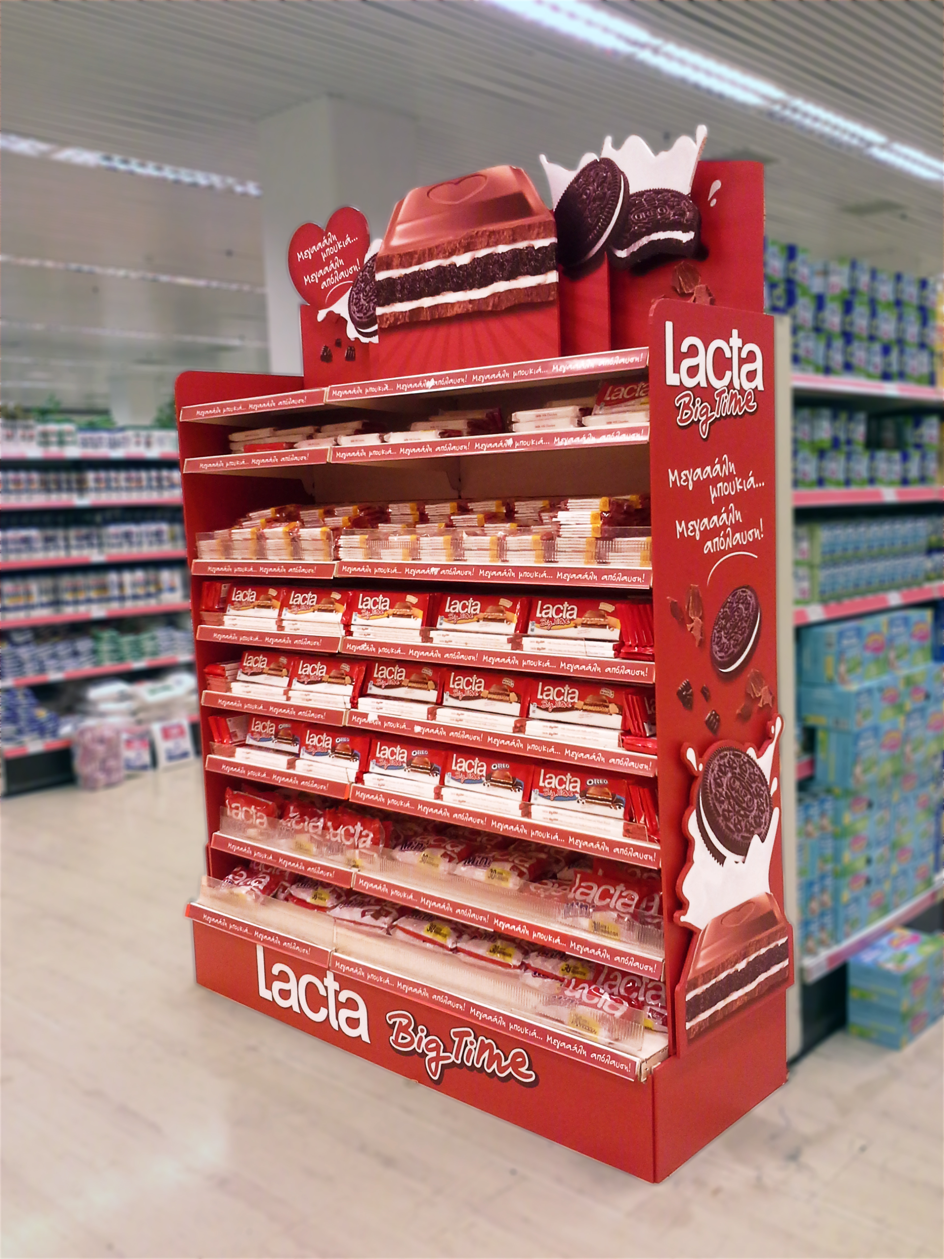 mondelez, lacta, big time, stand, in-store promotion