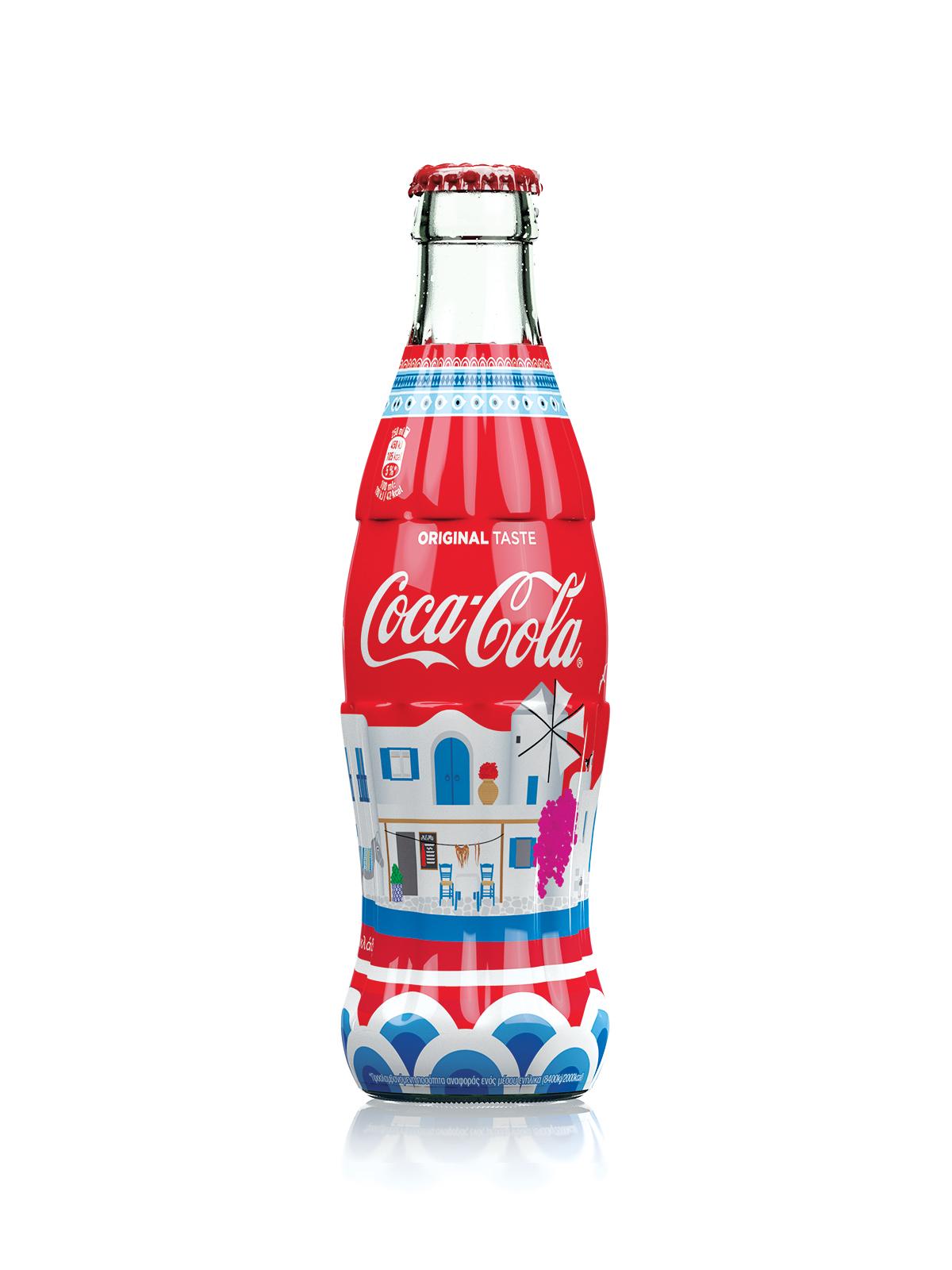 Coca-Cola Cyclades Original Taste limited edition bottle