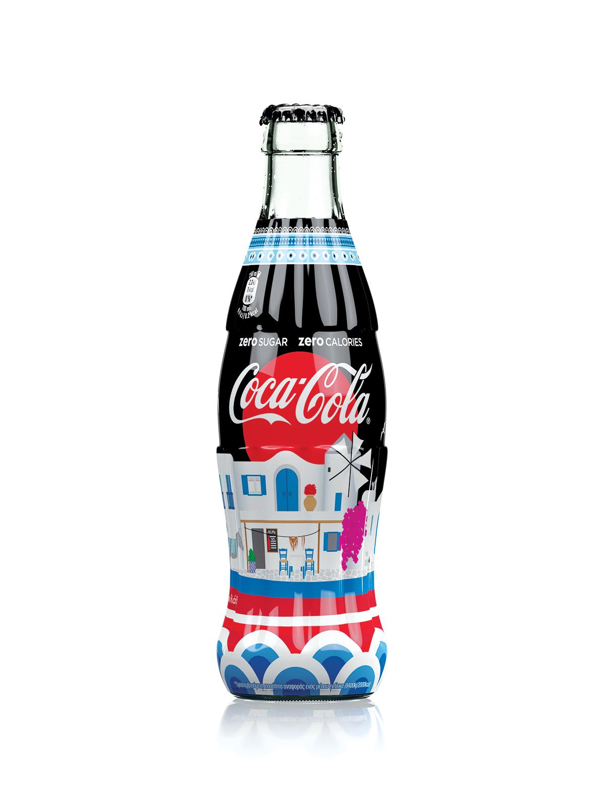 Coca-Cola Cyclades Zero limited edition bottle