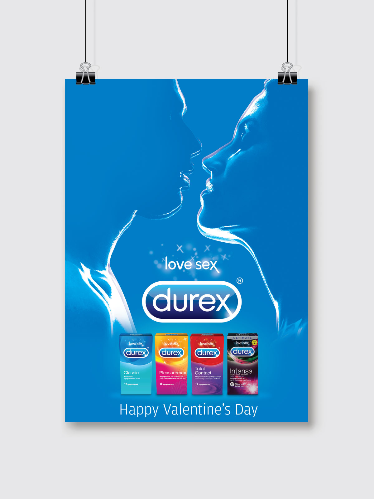 Durex 'Share the Love' alternative poster mockup