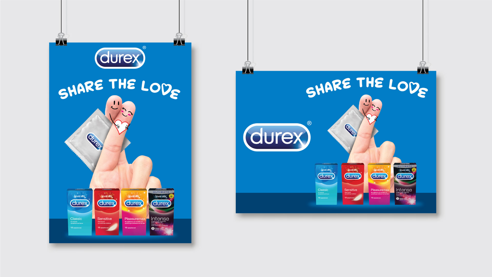 Durex 'Share the Love' poster mockups