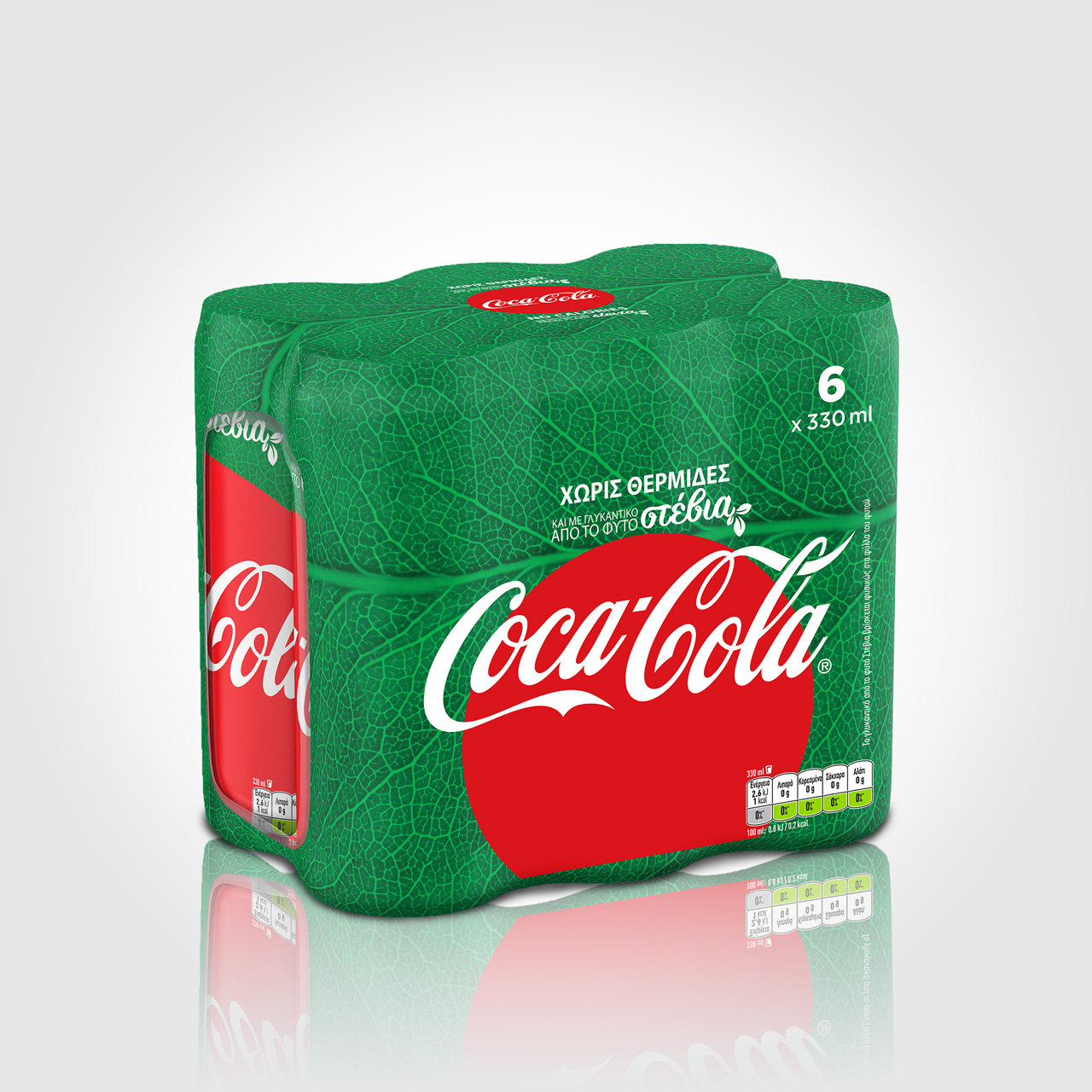 Coca-Cola Stevia redesign 6x330ml shrink wrap