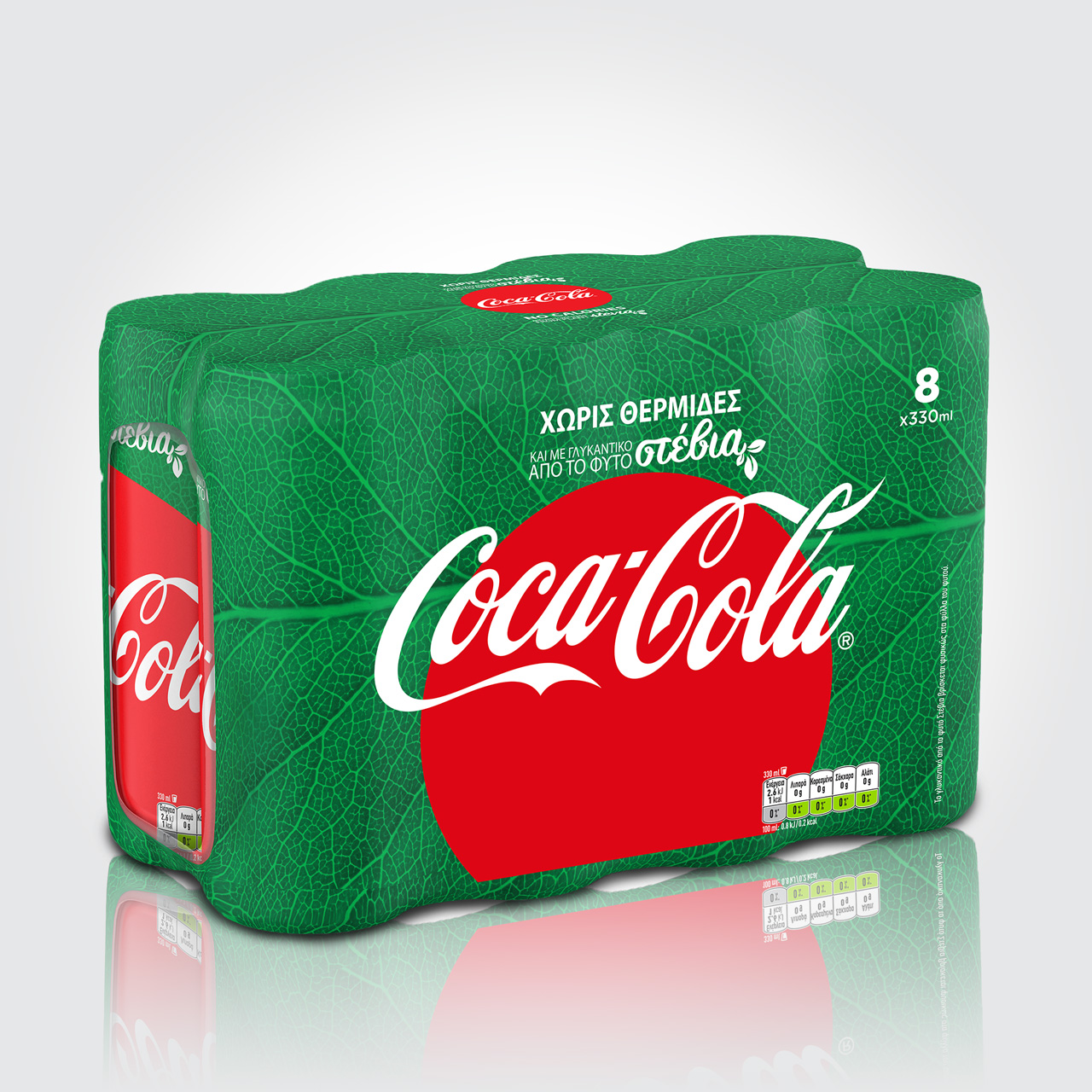 Coca-Cola Stevia redesign 8x330ml shrink wrap